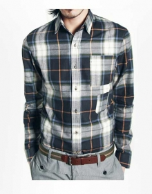 Double Vertical Pocket Plaid Shirt - Full Sleeves
