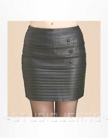 Whistle Leather Skirt - # 472