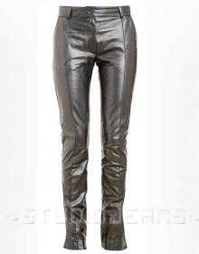 Front Crease Leather Pants