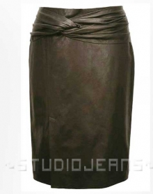 Clam Shell Leather Skirt - # 435