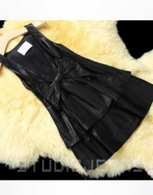 Leather Bow Dress - # 779