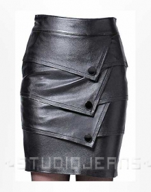 Flaky Leather Skirt - # 182
