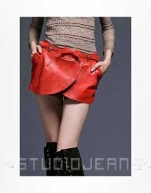 Leaflet Leather Skirt - # 177