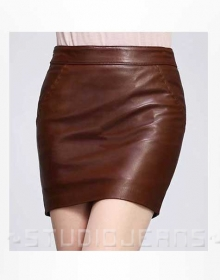 Basic Leather Skirt - # 153