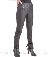 Leather Biker Jeans - Style #503