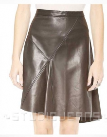 Breeze Flare Leather Skirt - # 422