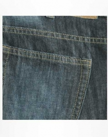 Fathom Blue Hard Scrapped Jeans