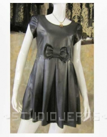 Bow Valentine Leather Dress - # 767