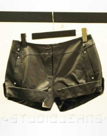 Leather Cargo Shorts Style # 369