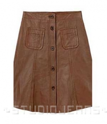 Button-Up Leather Skirt - # 121