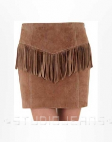 Fringe Leather Skirt - # 184