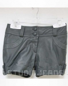 Leather Cargo Shorts Style # 355