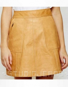 Cavalry Leather Skirt - # 491