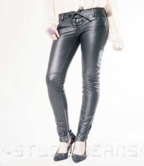 Leather Biker Jeans - Style #506