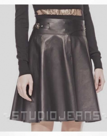 Cowboy Flare Leather Skirt - # 484