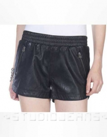 Leather Cargo Shorts Style # 375