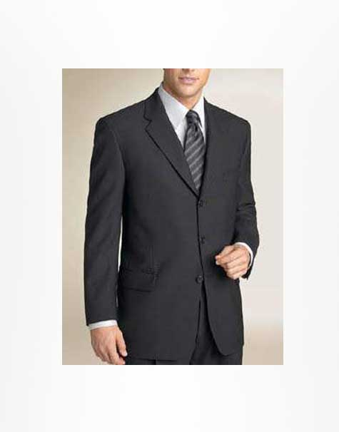 100 Percent Pure Merino Wool Black Suit Custom Jeans